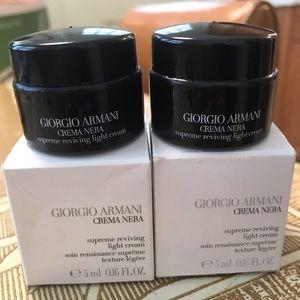 Lot of 2 Giorgio Armani Crema Nera